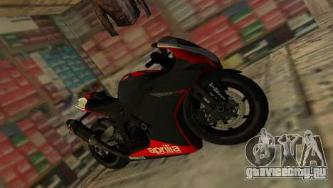 Aprilia RSV4 2009 Original для GTA Vice City вид справа