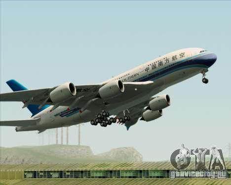 Airbus A380-841 China Southern Airlines для GTA San Andreas вид снизу