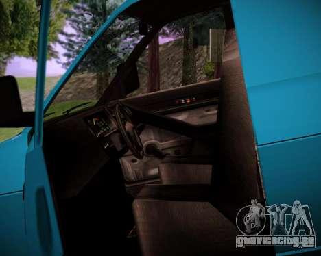 Burrito DeClasse для GTA San Andreas вид сзади слева