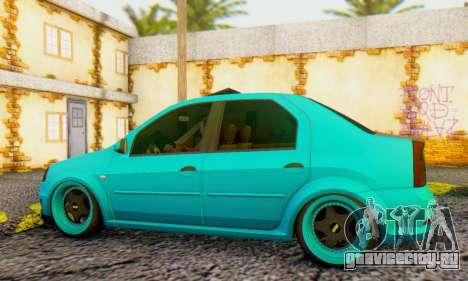 Dacia Logan Pearl Blue для GTA San Andreas вид сзади слева