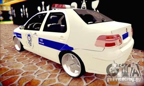 Fiat Albea Police Turkish для GTA San Andreas вид изнутри