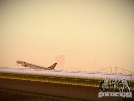 Airbus A340-600 Singapore Airlines для GTA San Andreas вид сзади
