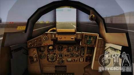 MIG 29 Russian Air Force From Ace Combat для GTA San Andreas вид сзади