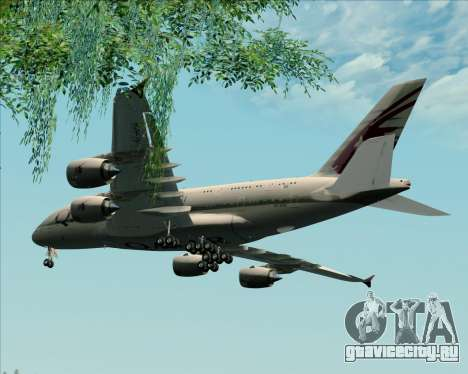 Airbus A380-861 Qatar Airways для GTA San Andreas вид изнутри