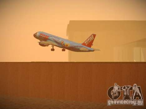 Airbus A320-214 TAM Airlines RIO для GTA San Andreas салон