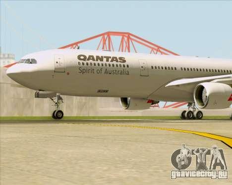 Airbus A330-300 Qantas для GTA San Andreas вид снизу