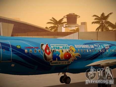 Airbus A320-214 TAM Airlines RIO для GTA San Andreas вид изнутри