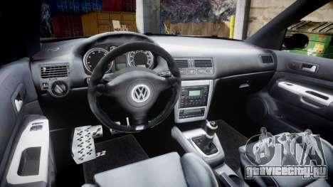 Volkswagen Golf Mk4 R32 Wheel1 для GTA 4 вид изнутри