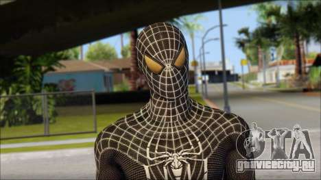 Standart Black Spider Man для GTA San Andreas третий скриншот
