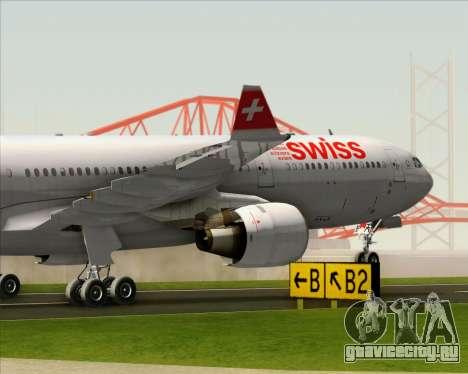 Airbus A330-300 Swiss International Air Lines для GTA San Andreas вид сверху