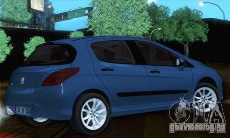 Peugeot 308 2010 для GTA San Andreas вид слева
