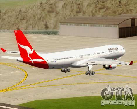 Airbus A330-300 Qantas для GTA San Andreas вид изнутри