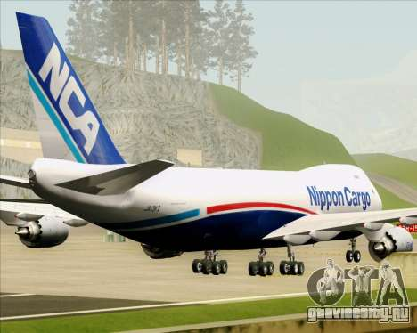 Boeing 747-8 Cargo Nippon Cargo Airlines для GTA San Andreas вид снизу