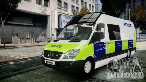 Mercedes-Benz Sprinter Police 2014 для GTA 4
