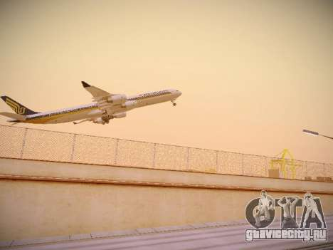 Airbus A340-600 Singapore Airlines для GTA San Andreas вид справа