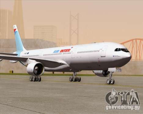 Airbus A330-300 Air Inter для GTA San Andreas вид сверху