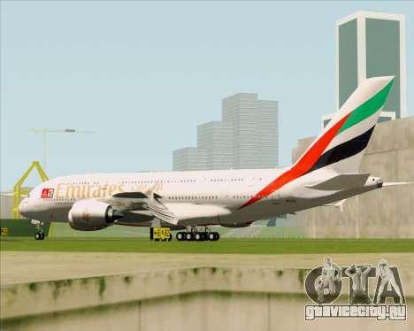 Airbus A380-841 Emirates для GTA San Andreas вид сзади