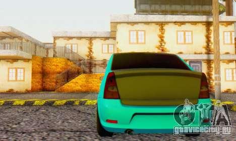 Dacia Logan Pearl Blue для GTA San Andreas вид сзади