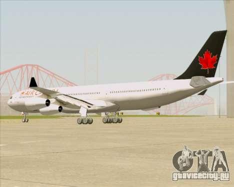 Airbus A340-313 Air Canada для GTA San Andreas вид сзади слева