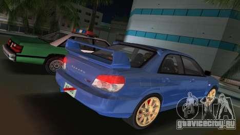 Subaru Impreza WRX STI 2006 Type 1 для GTA Vice City вид слева