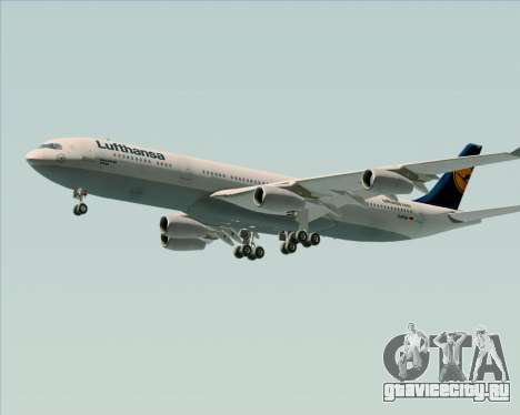 Airbus A340-313 Lufthansa для GTA San Andreas вид сбоку