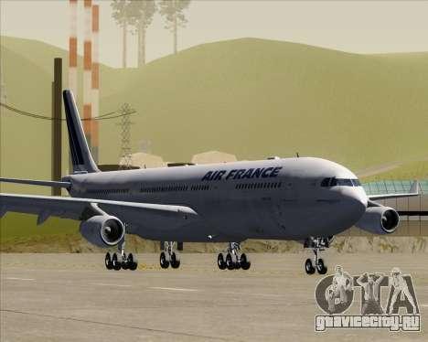 Airbus A340-313 Air France (Old Livery) для GTA San Andreas вид слева