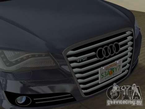 Audi A8 2010 W12 Rim3 для GTA Vice City салон