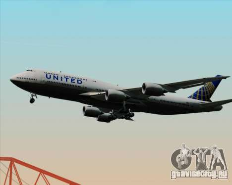 Boeing 747-8 Intercontinental United Airlines для GTA San Andreas вид сбоку