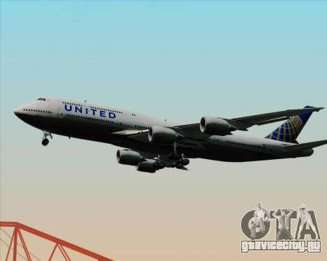 Boeing 747-8 Intercontinental United Airlines для GTA San Andreas вид сбоку
