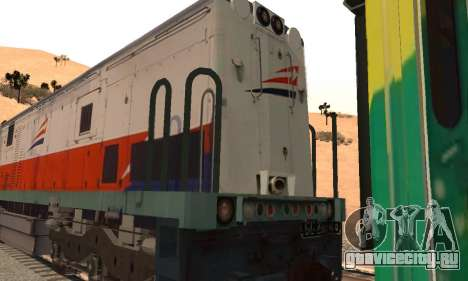 GE U18C CC 201 Indonesian Locomotive для GTA San Andreas вид справа