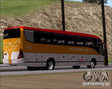 Marcopolo Paradiso G7 1050 Yellow Bus Line A-2 для GTA San Andreas вид справа