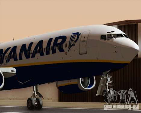Boeing 737-8AS Ryanair для GTA San Andreas вид сбоку