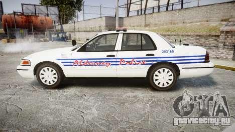 Ford Crown Victoria Alderney Police [ELS] для GTA 4 вид слева