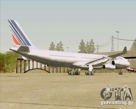 Airbus A340-313 Air France (Old Livery) для GTA San Andreas вид справа