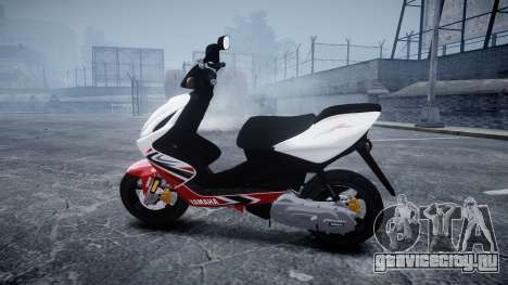 Yamaha Aerox R для GTA 4 вид слева