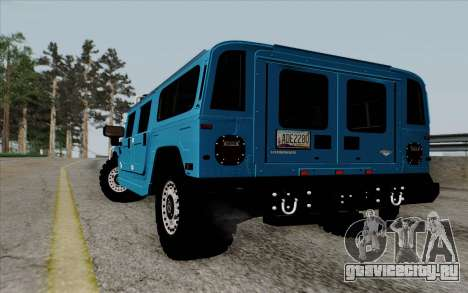 Hummer H1 Alpha 2006 Road version для GTA San Andreas вид сзади слева