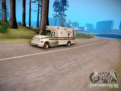 Pierce Commercial Grasonville Ambulance для GTA San Andreas вид изнутри