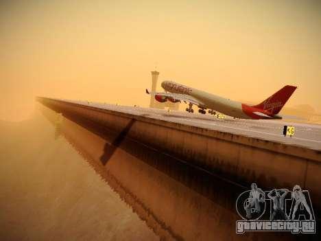 Airbus A340-600 Virgin Atlantic New Livery для GTA San Andreas салон