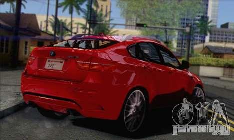 BMW X6M 2013 v3.0 для GTA San Andreas вид слева
