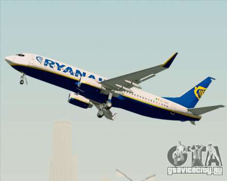 Boeing 737-8AS Ryanair для GTA San Andreas вид сверху