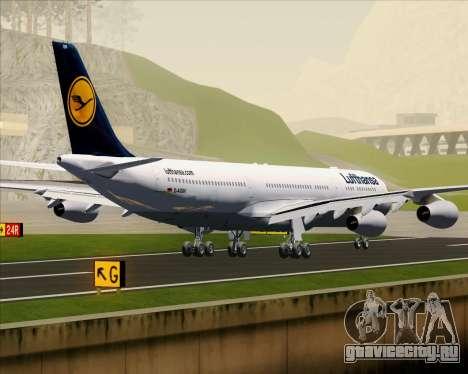 Airbus A340-313 Lufthansa для GTA San Andreas вид сзади