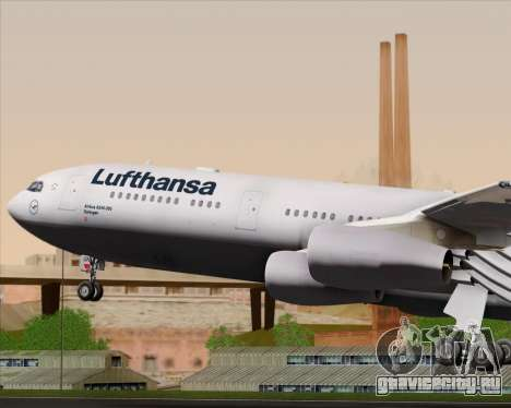 Airbus A340-313 Lufthansa для GTA San Andreas двигатель