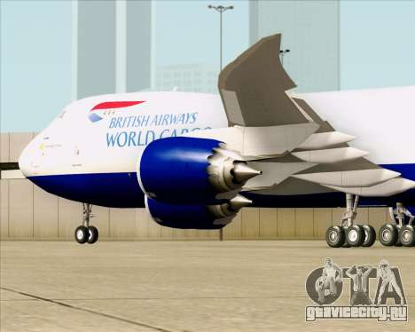 Boeing 747-8 Cargo British Airways World Cargo для GTA San Andreas