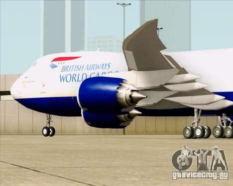 Boeing 747-8 Cargo British Airways World Cargo для GTA San Andreas