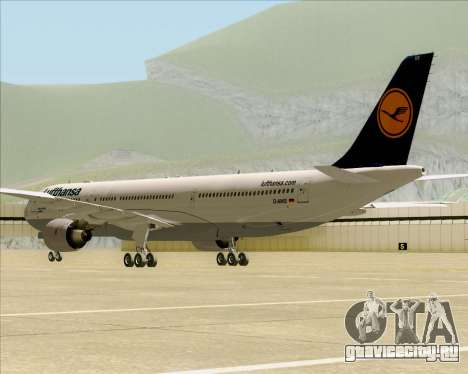 Airbus A330-300 Lufthansa для GTA San Andreas вид сзади