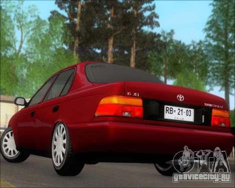 Toyota Corolla 1.6 для GTA San Andreas вид сбоку