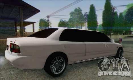 Proton Wira Official Malaysian Limousine для GTA San Andreas вид слева