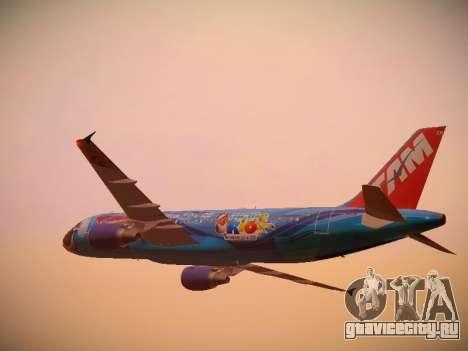 Airbus A320-214 TAM Airlines RIO для GTA San Andreas вид снизу