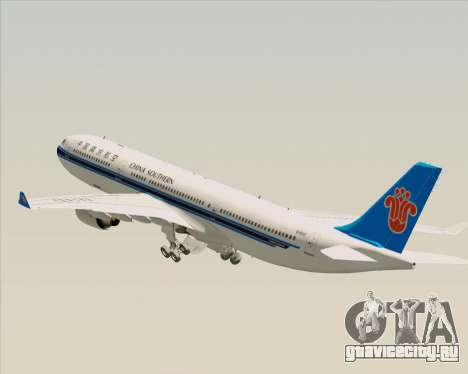 Airbus A330-300 China Southern Airlines для GTA San Andreas колёса