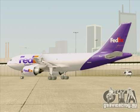 Airbus A310-300 Federal Express для GTA San Andreas вид снизу